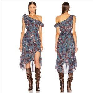 Ulla Johnson Uma Dress Azul Metallic Lurex Size 2